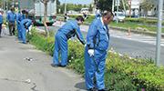 活動道路清掃奉仕作業状況