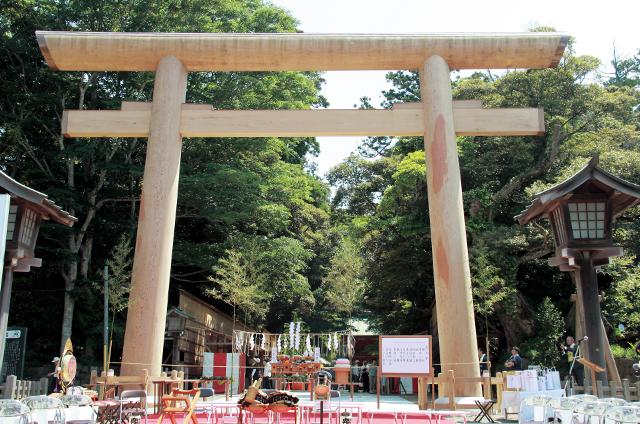 鹿島神宮 大鳥居再建