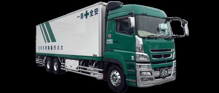 乳製品輸送 大型冷凍車