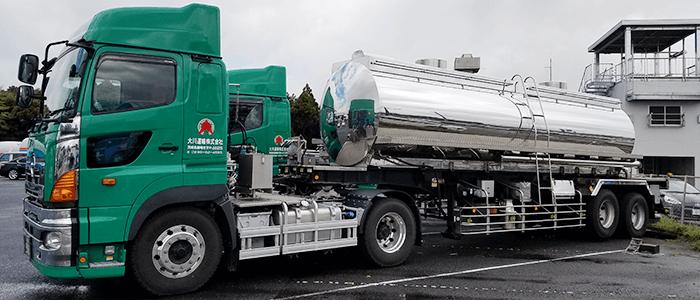 食品原料輸送 タンクトレーラー車