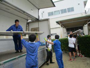 2017.9.6-12清真学園パネル輸送①