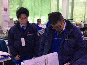 2017年秋 防寒技師給の様子②